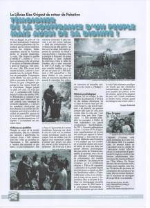 Elsa Grigaut interviewée dans la Tribune de la Région Minière Elsa-Tribune-Région-Minière-217x300