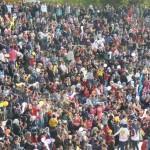 impossible de prendre toute la foule en photo
