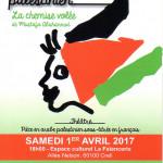 <b>Printemps Palestinien de CREIL 2017</b> <br /> Le programme complet à l'adresse  http://lillenaplouse.unblog.fr/2017/03/23/creil-printemps-palestinien-2017/