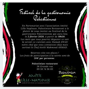 Affiche évènement au Palestinian Restaurant